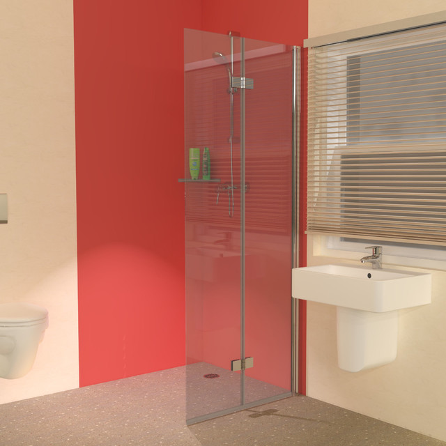 uniclosure 800 folding wet room shower screen