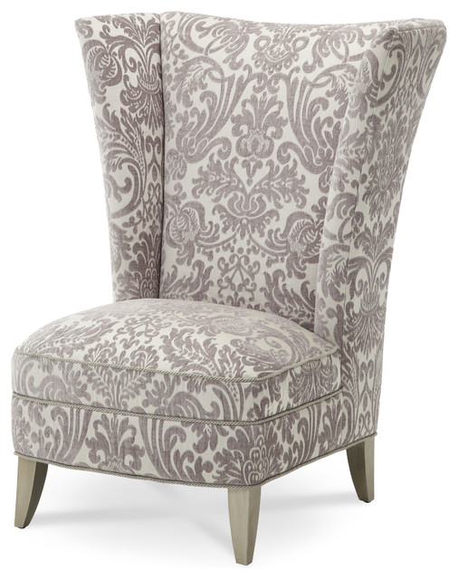Bistro chair wood - Overture High Back Chair Transitional High Chairs And