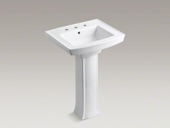 KOHLER Archer(R) pedestal bathroom sink with 8