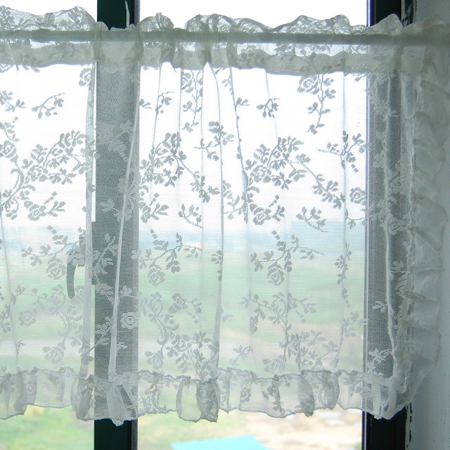lace kitchen window curtain bathroom curtain. Black Bedroom Furniture Sets. Home Design Ideas