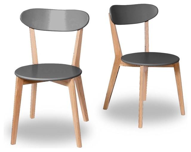 lot de 2 chaises design scandinave vitak couleur gris anthracite scandinave chaise et. Black Bedroom Furniture Sets. Home Design Ideas