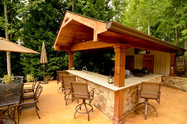 Cabana Outdoor Living Space Traditional Patio Atlanta By Georgia Classic Pool