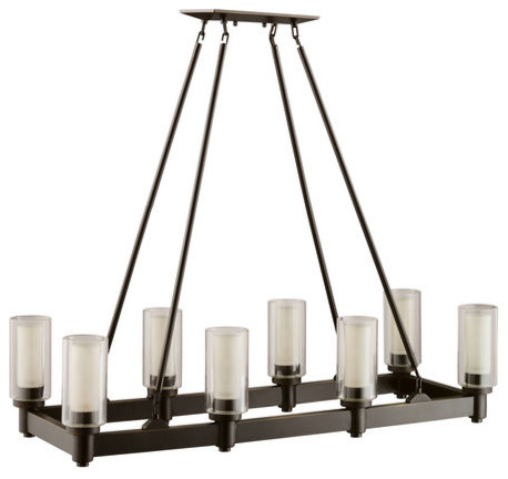 Kichler Oz Circolo Single Tier Linear Chandelier Eight Lights Stem Six Chandeliers By Buildcom