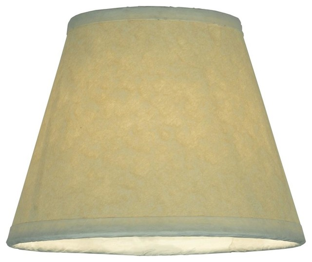 Aged Celadon Parchment Replacement Shade Contemporary Lamp