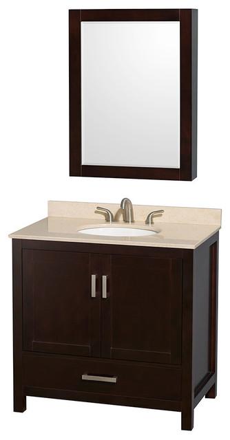 36 Quot Single Bathroom Vanity Countertop Medicine Cabinet