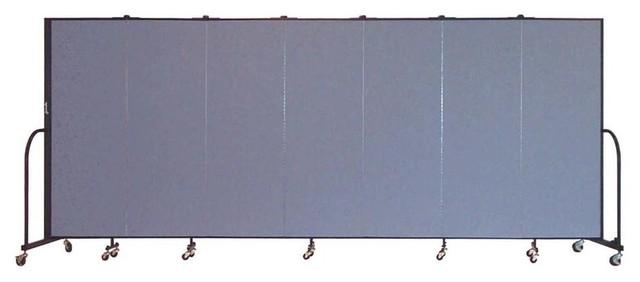 Freestanding 72 in Portable Room Divider w 7 Panels Lake