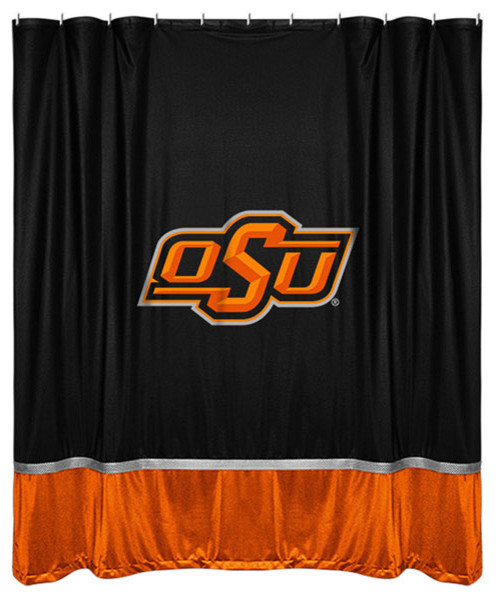 Ncaa Oklahoma State Shower Curtain College Bathroom Accent