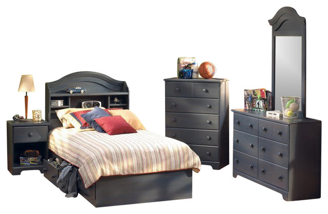 South shore summer breeze blueberry twin captain 6 piece - South shore 4 piece bedroom furniture set ...