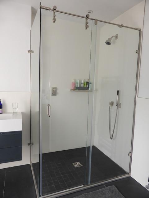 Rolling shower door enclosures glass hydroslide
