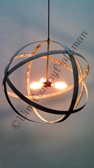 Triple Light Atom Chandelier 100 Recycled