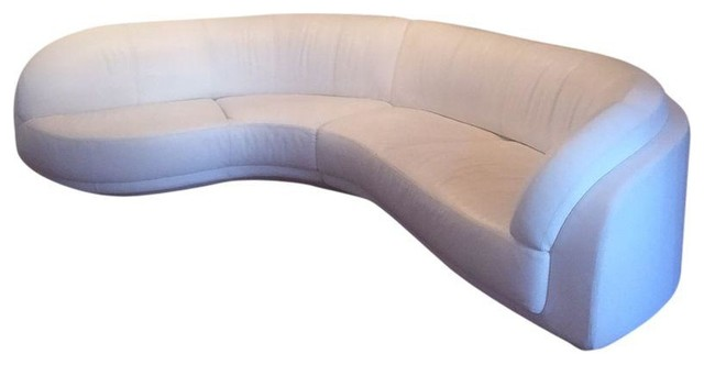W Schillig Arabesque Modern White Sectional Modern Sectional Sofas By Chairish