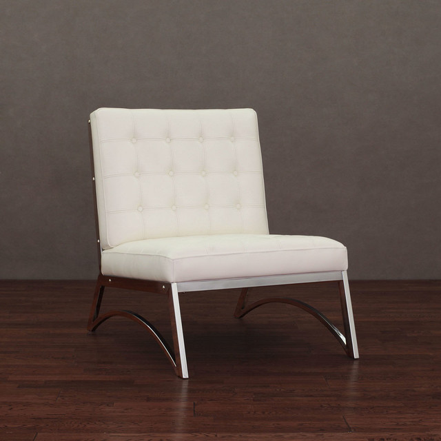 Madrid modern white leather chair contemporary for Modern leather office chairs