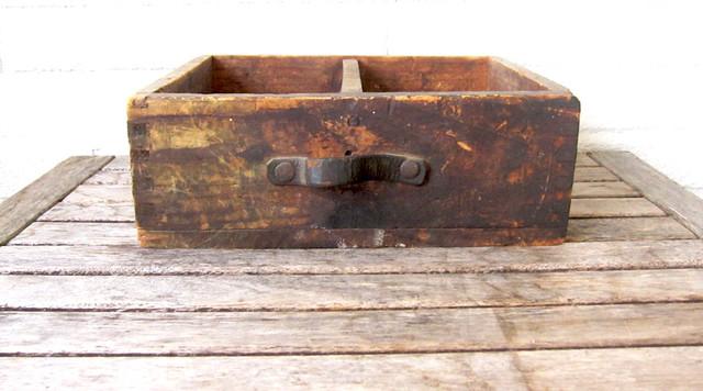 antique wood box 1