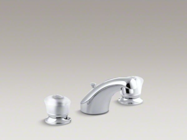 KOHLER Coralais R Widespread Bathroom Sink Faucet With Sculpted Acrylic Hand