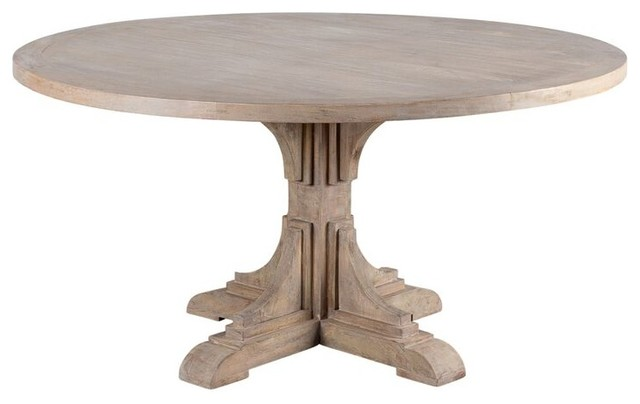 Bourdin Round Dining Table Farmhouse Dining Tables By C G