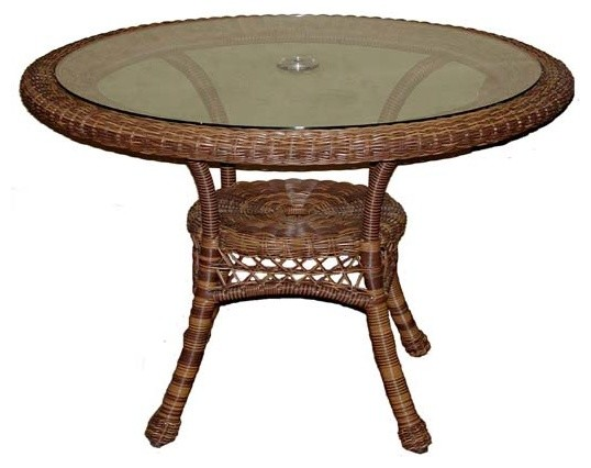 42quot Espresso Wicker Sands Round Dining Table  : contemporary dining tables from www.houzz.co.uk size 538 x 426 jpeg 42kB