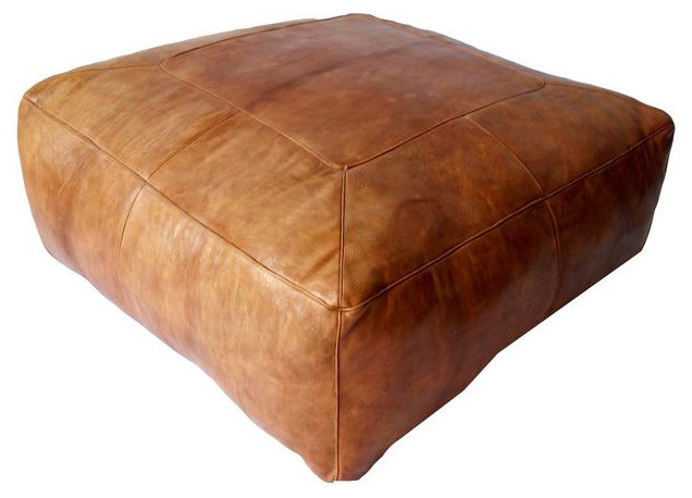 Square Leather Ottoman (DIY Project Download) – Woodworking Featured ...