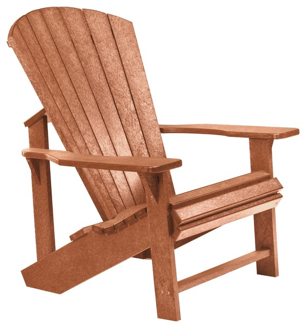 C R Plastics Adirondack Chair In Cedar Contemporary Adirondack Chairs