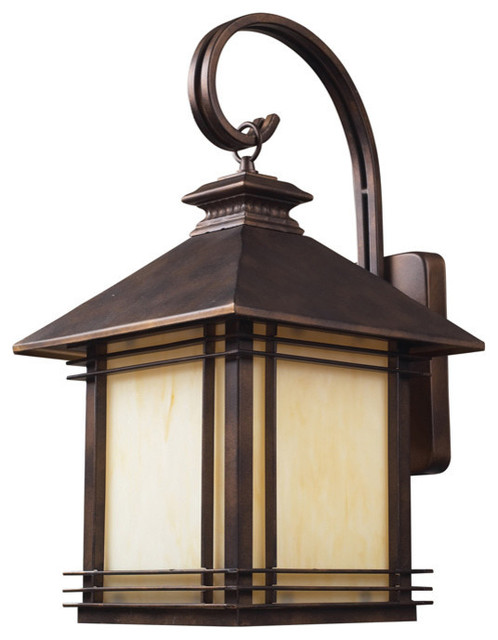 Transitional Outdoor Wall Lights : ELK 42102/1 Outdoor Sconce - Transitional - Outdoor Wall Lights And Sconces - by Eager House