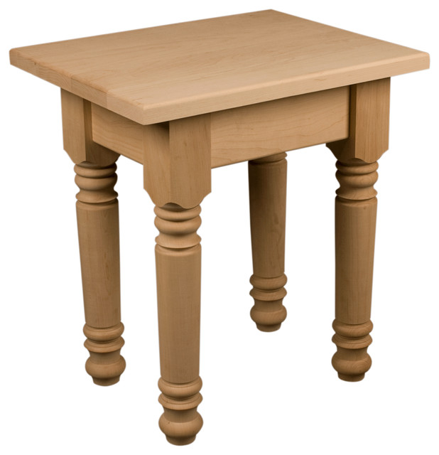 Small farm style end table kit side tables and end for Wood coffee table kits