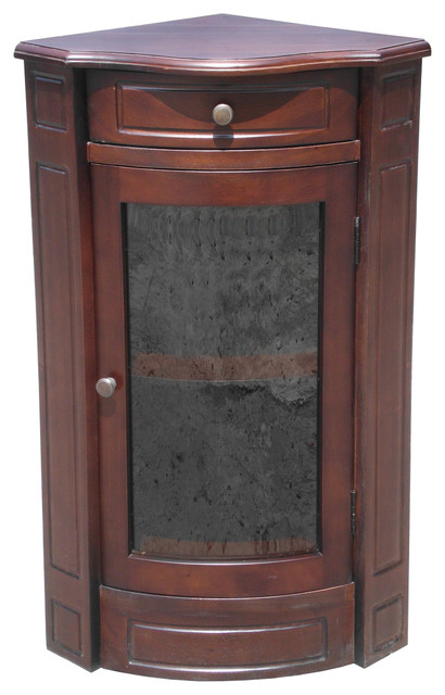 D-Art Corner Glass Short Cabinet - Traditional - Accent Chests And Cabinets - by D-Art ...