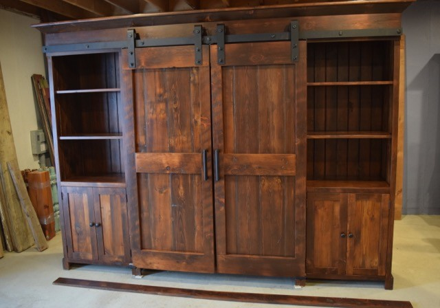 Barn Door Entertainment Cabinet - Farmhouse - Entertainment Centers And Tv Stands - Philadelphia ...