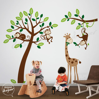 kids wall decoration Tropical Kids Decor other metro