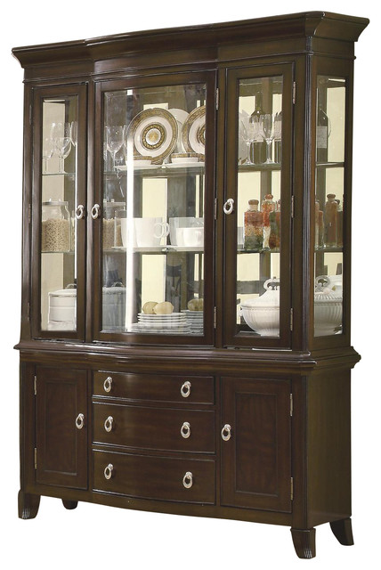 Coaster Meredith Buffet With Hutch, Espresso - Traditional ...
