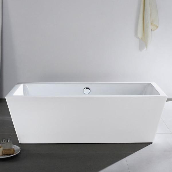59 X 30 White Rectangle Soaking Free Standing Bathroom Tub Tran