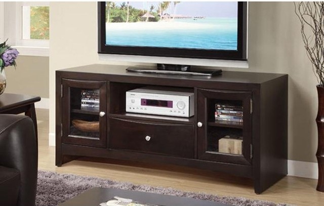 wooden tv cabinets with glass doors 2