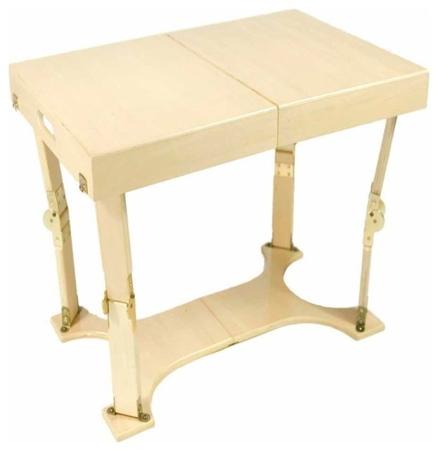 Birch Lane Abington Carston Solid Pine Lighted Display: Spiderlegs CCT1828-NB Hand Crafted Folding Coffee Table In