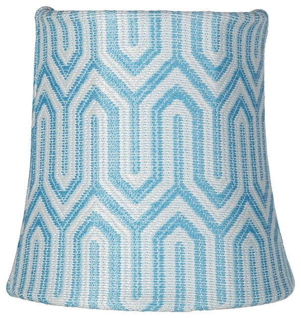 aqua blue maze drum lamp shade 4x5x5 clip on. Black Bedroom Furniture Sets. Home Design Ideas