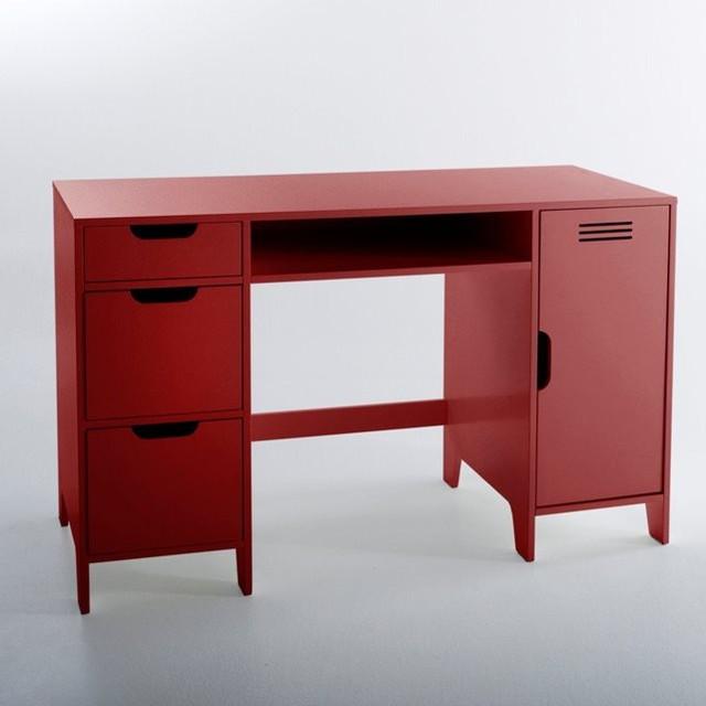 Bureau enfant double caisson asper contemporain for Bureau meuble contemporain