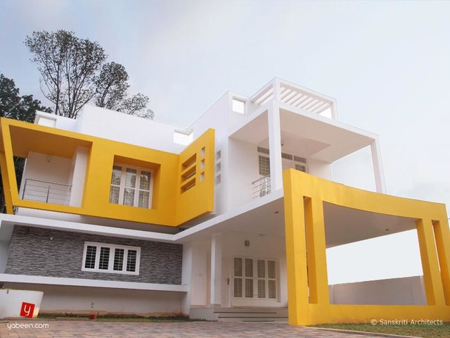 Contemporary style home plans in kerala Home plan