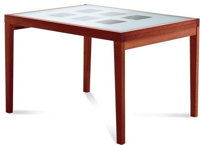 Poker 120 extendable dining table contemporary dining for Table 120 extensible