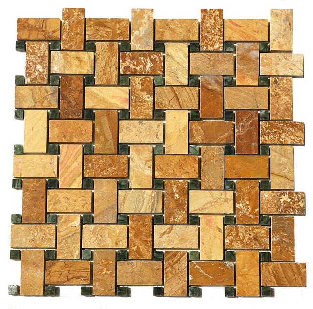 Basket weave tile floor