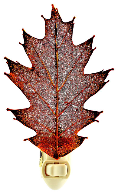 Real Oak Leaf Night Light Traditional Night Lights