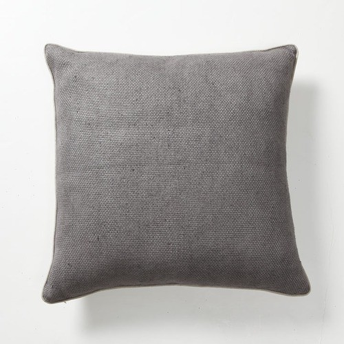 Illusion Textured Willow Basket Weave Pillow in Ash - Modern - Scatter Cushions