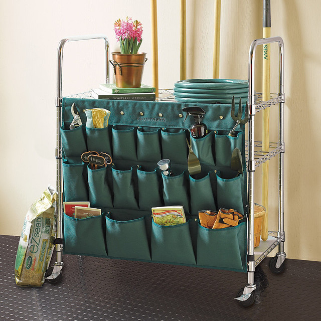 Garden Tool Organizer - Traditional - Garage And Tool Storage - by ...