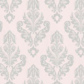 Silver French Damask Fabric Mediterranean Fabric