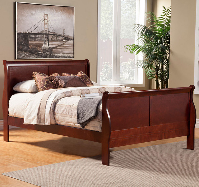 Louis Philippe Ii Cal King Sleigh Bed Modern Bedroom Furniture Sets