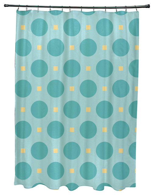 Zen Geometric Print Shower Curtain - Contemporary - Shower Curtains ...