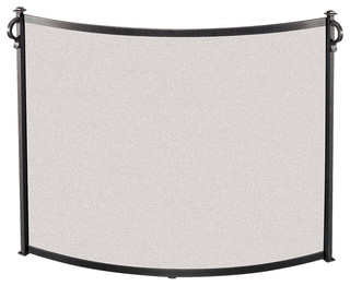American Craftsman Bowed Fireplace Screen Large 44 Quot W X
