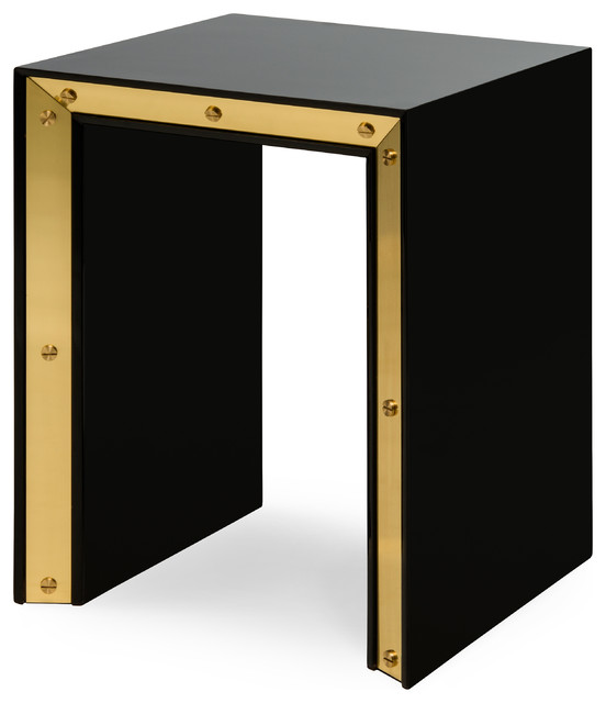 Flair Edge Side Table Black Small Contemporary Side