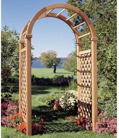 red cedar saybrook arbor contemporary pergolas arbors and trellises by. Black Bedroom Furniture Sets. Home Design Ideas