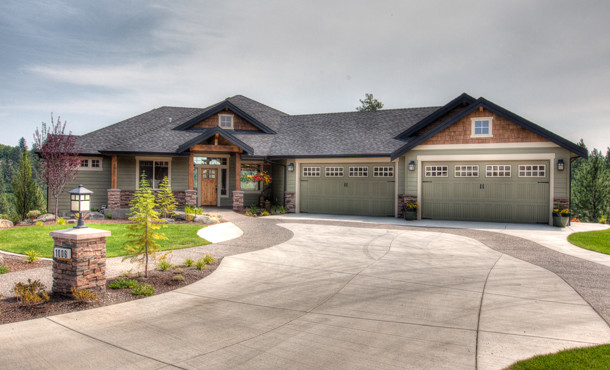 Angled Garage - Craftsman - seattle - by Spokane House Plans, Inc
