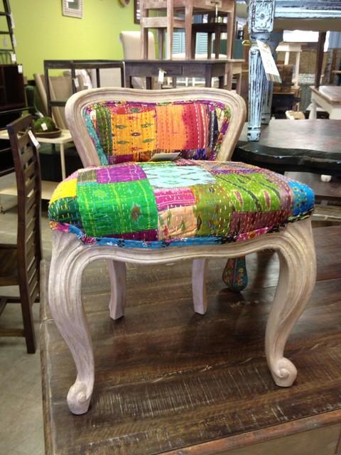 Sari fabric children 39 s chair ka308 for Sari furniture designer