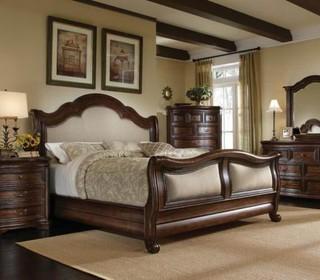 Art Furniture Coronado Fabric 3 Piece Sleigh Bedroom Set 72145 2612 Set Rustic Bedroom