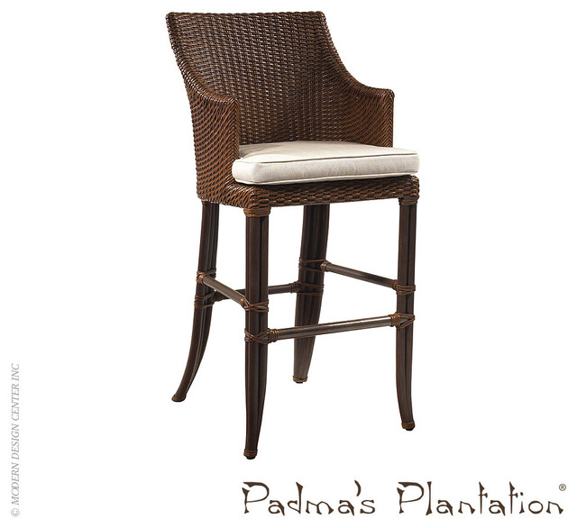 Padma S Plantation Palm Beach Outdoor Bar Stool Modern