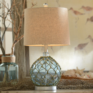 Blue Glass Table Lamp Beach Style Table Lamps